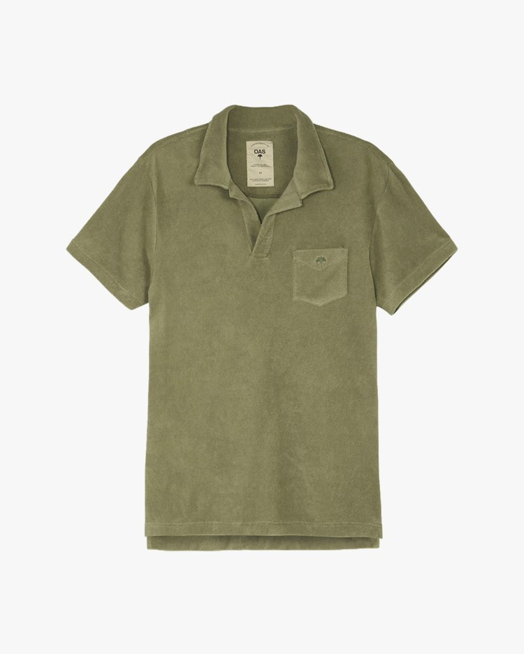 Oas Company Solid Terry Shirt Khaki