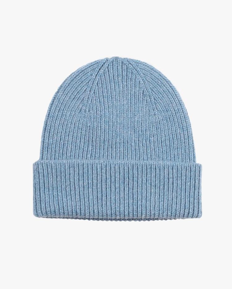 Colorful Standard Merino Wool Beanie Stone Blue