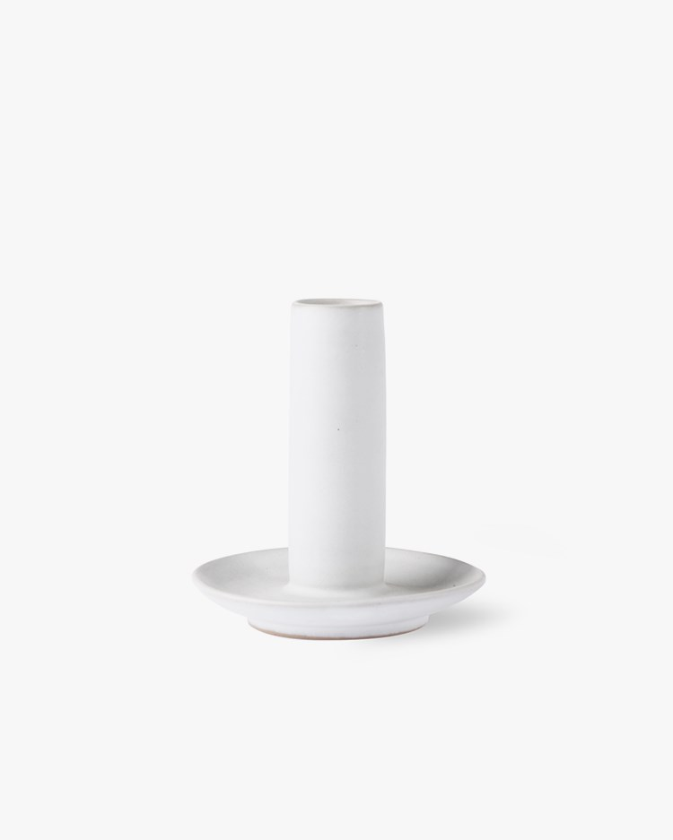 HK Living Ceramic Candle Holder Large White