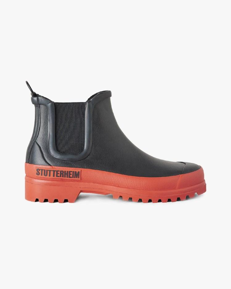 Stutterheim Chelsea Rainwalker Black/Rust