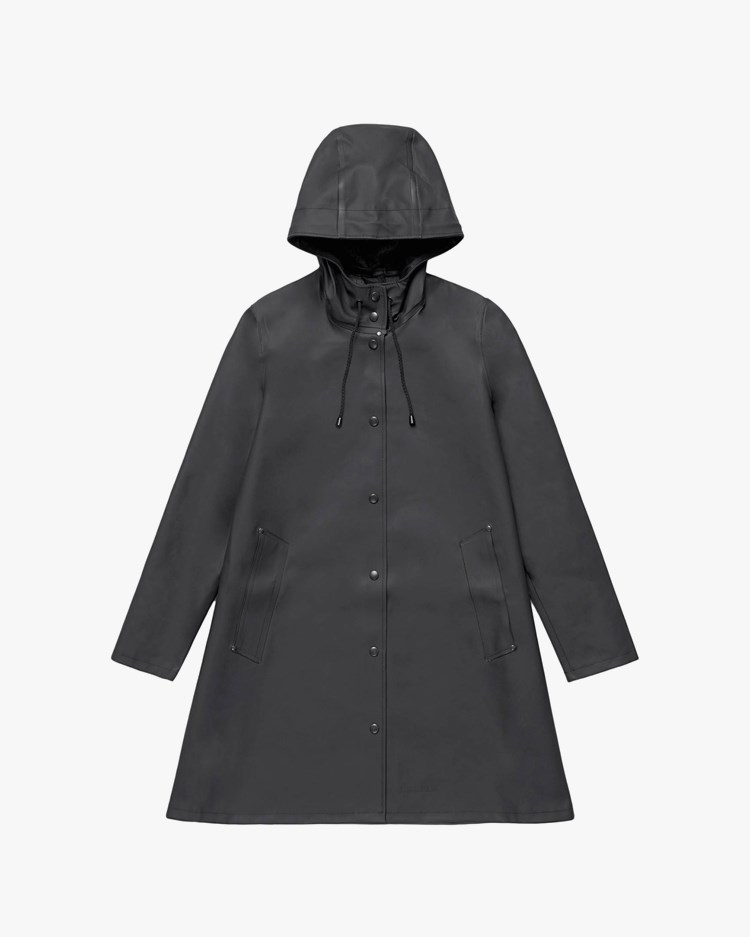 Stutterheim Mosebacke Raincoat Black