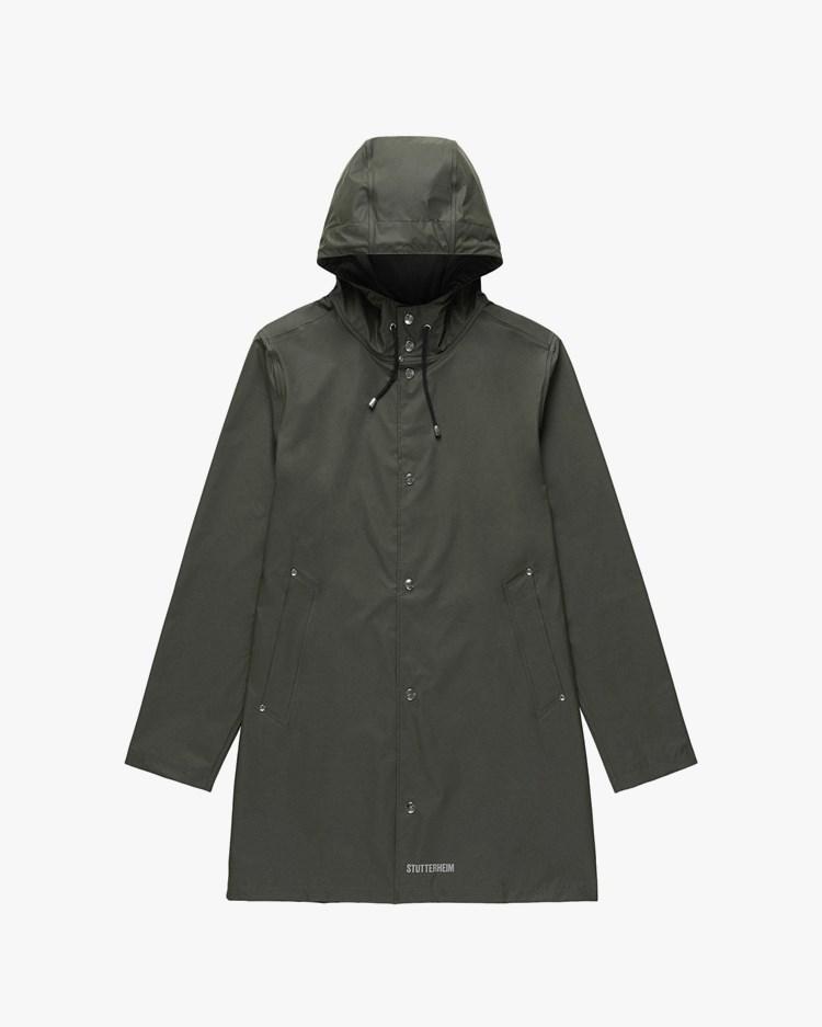 Stutterheim Stockholm Lightweight Raincoat Green