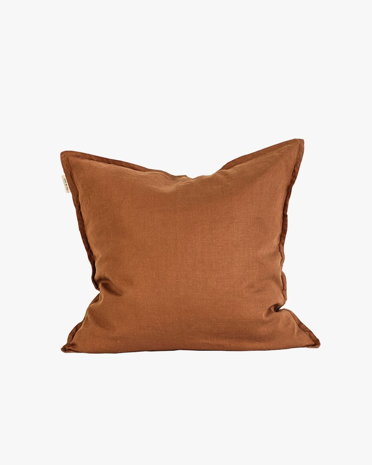 Tell Me More Cushion Cover Linen Amber 50x50