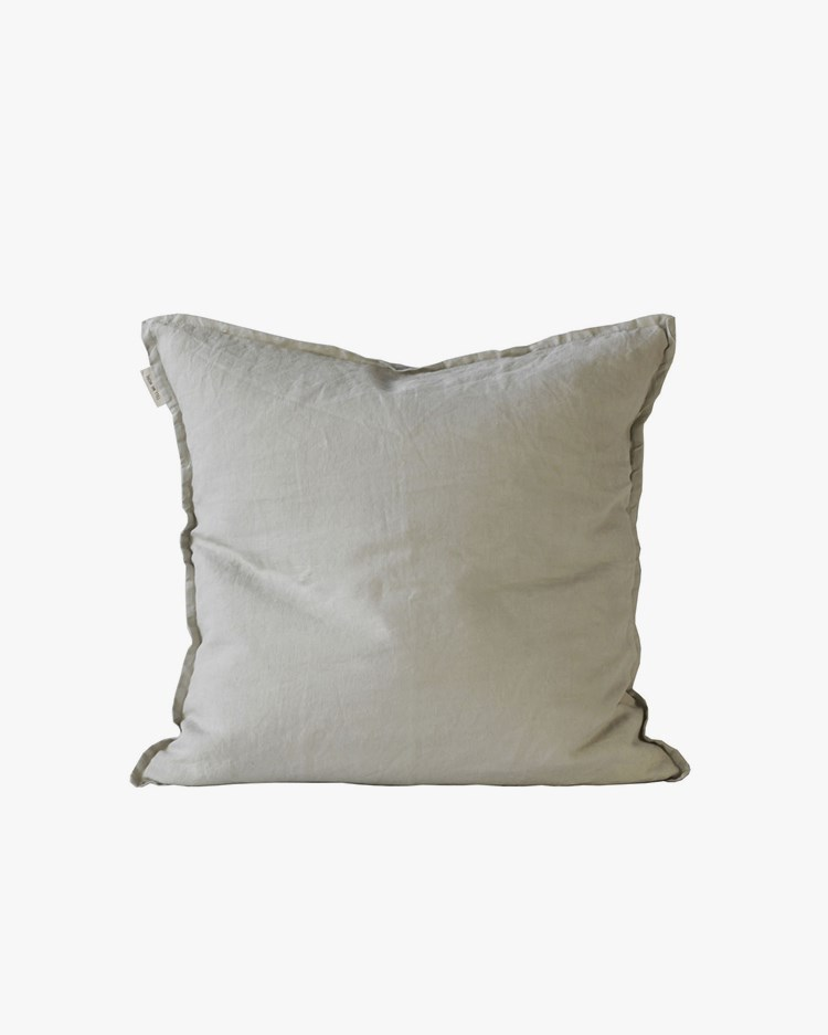 Tell Me More Cushion Cover Linen Warm Grey 50x50