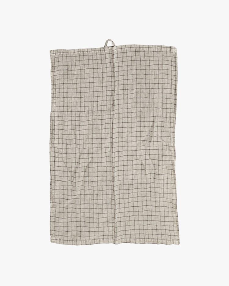 Olsson & Jensen Kitty Kitchen Towel Light Grey Check