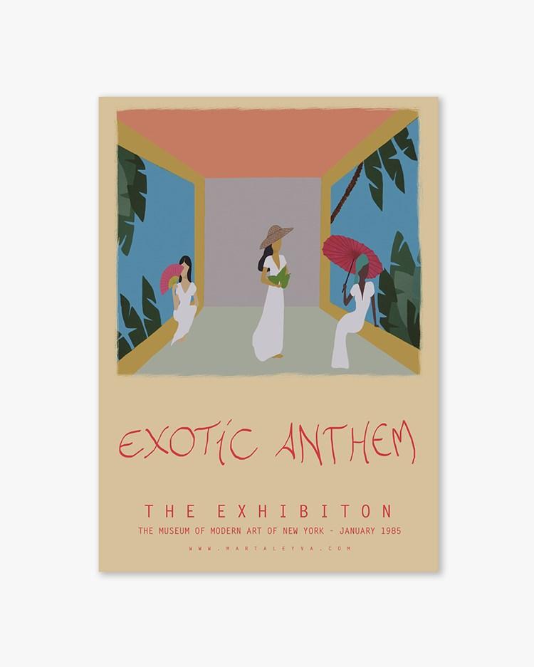Wall Of Art Marta Leyva Exotic Anthem