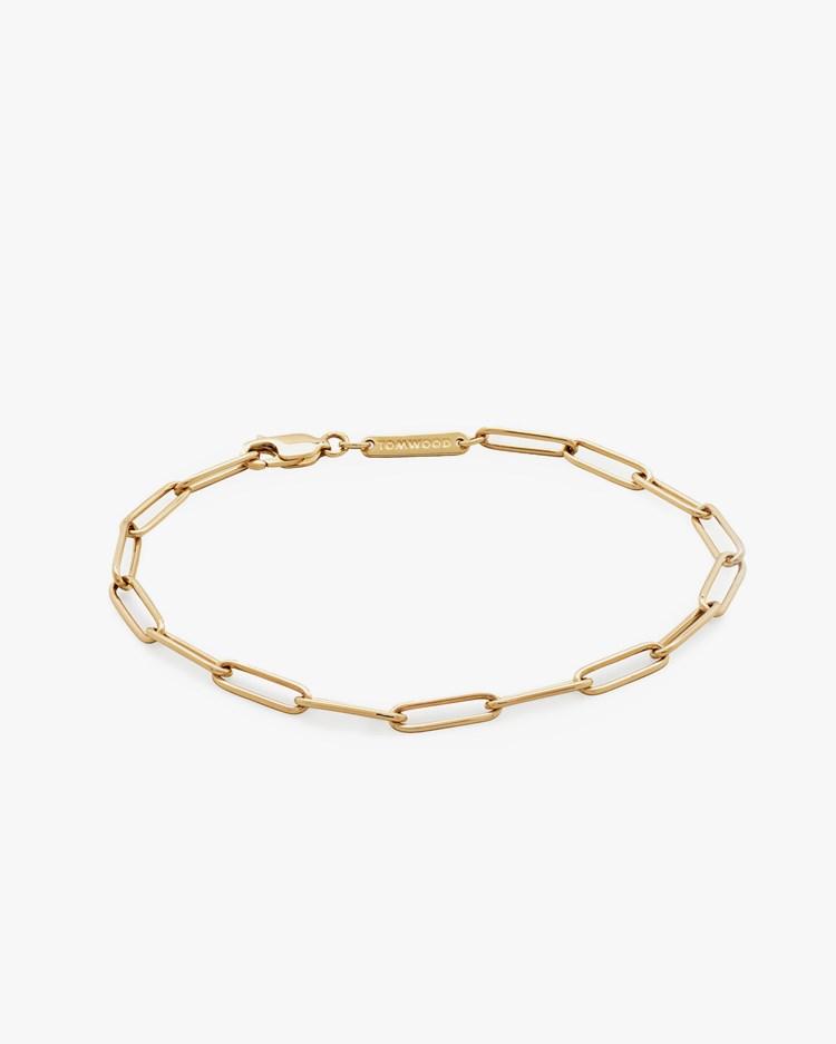 Tom Wood Box Bracelet Gold