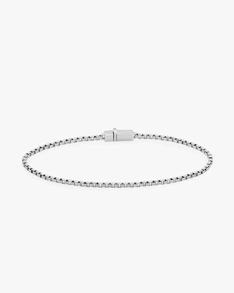 Tom Wood Square Bracelet Silver