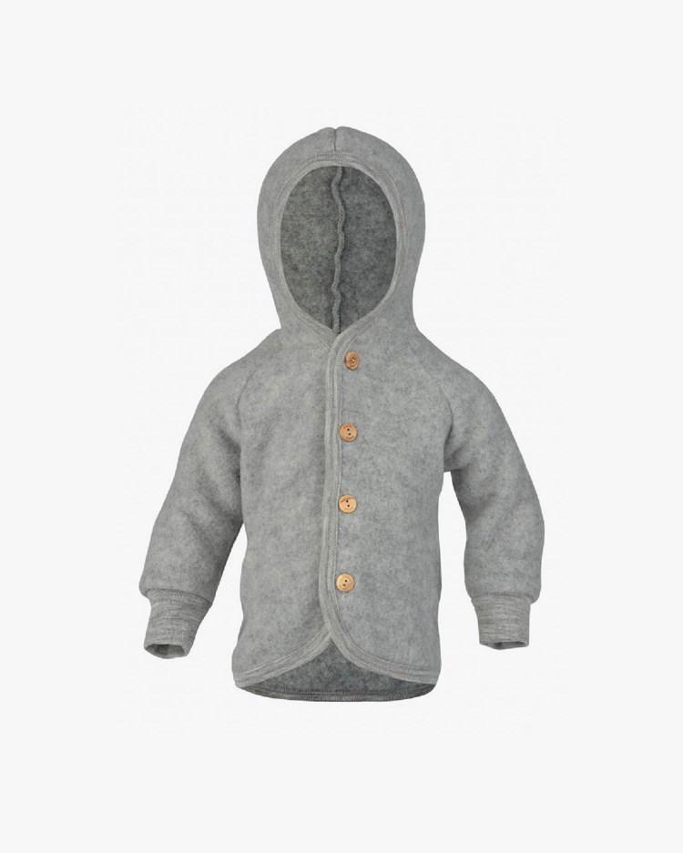 Engel Hooded Jacket Light Grey Melange