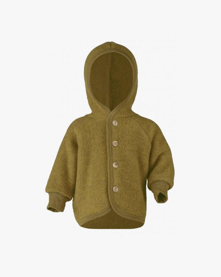 Engel Hooded Jacket Saffron Melange
