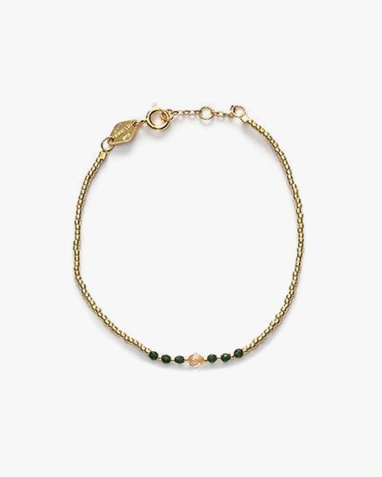 Anni Lu Bead & Gem Bracelet Emerald
