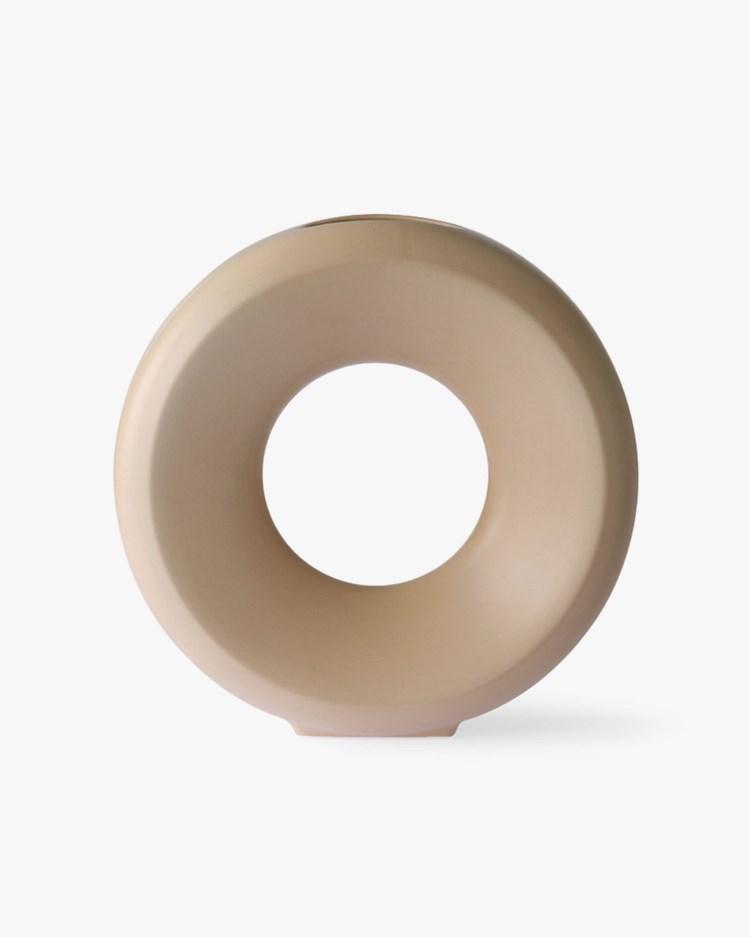 HK Living Ceramic Circle Vase Sand