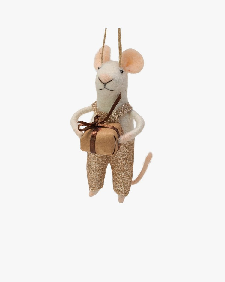 Olsson & Jensen Christmas Decoration Mouse With Gift