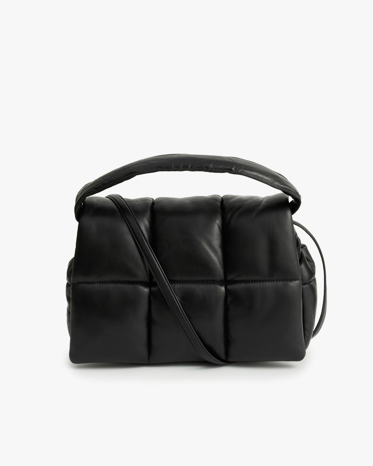 Stand Studio Wanda Leather Clutch Bag Black