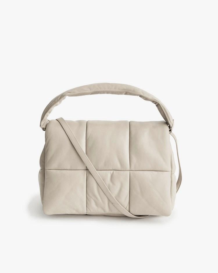 Stand Studio Wanda Leather Clutch Bag Warm Sand