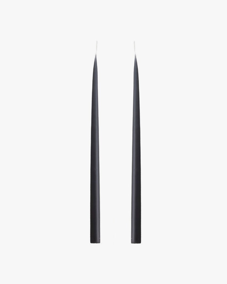 Kunstindustrien Hand Dipped Candle Charcoal Grey