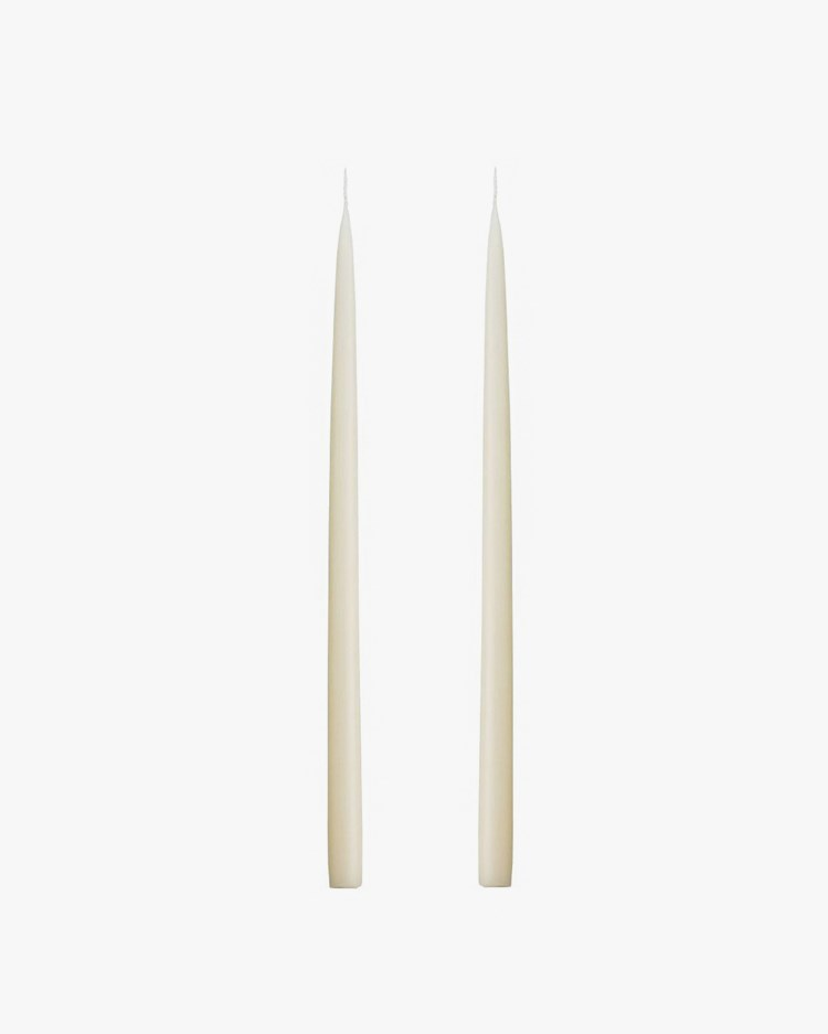 Kunstindustrien Hand Dipped Candle Off White