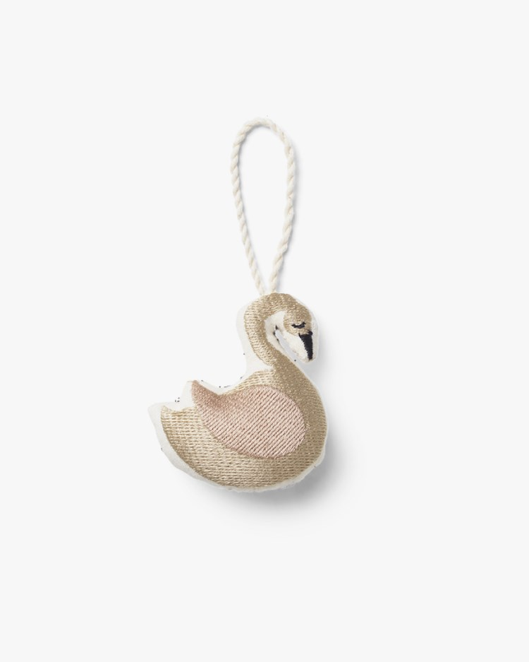 Ferm Living Embroidered Ornaments Swan