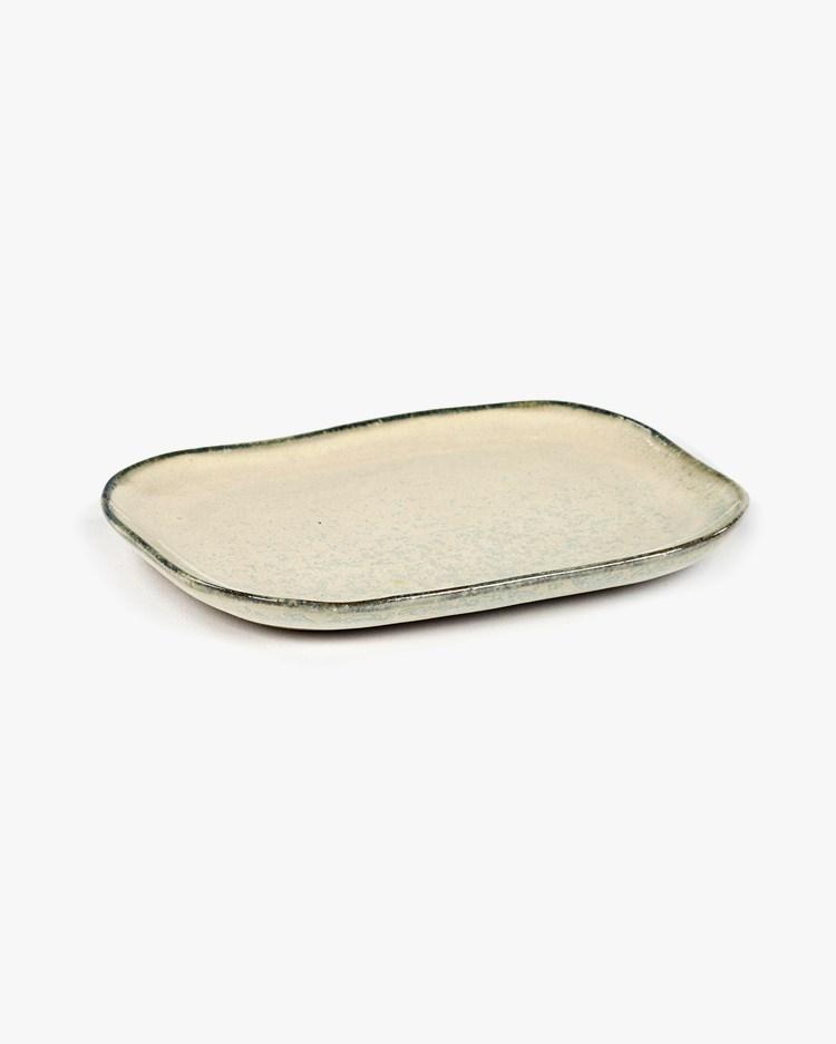 Serax Plate Rectangular Merci N°3 M Off White