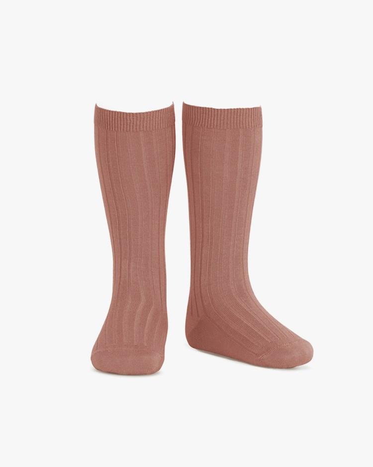 Cóndor Ribbed Knee High Socks Terracota