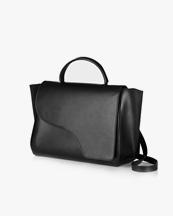 Atp Atelier Volterra Black Large Handbag