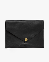 P.A.P Accessories Kungsten Laptop Cover Black Leather