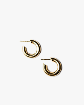 Blue Billie Small Hoop Shine Gold Plated