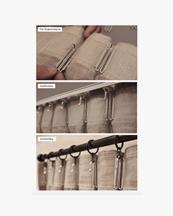 Gotain Curtain Woven Linen Grey