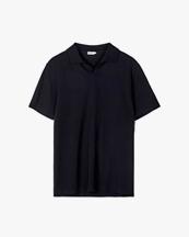 Filippa K Lycra Polo T-Shirt Black