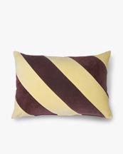 HK Living Cushion Striped Velvet Yellow/Purple