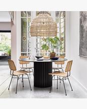 HK Living Dining Table Pillar Round