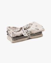 Garbo & Friends Muslin Burp Cloth 3-Pack Clover