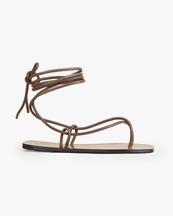 Atp Atelier Alezio Flat Sandals Khaki Brown