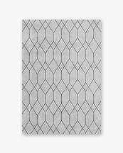 Layered Quartz Rug Light Grey