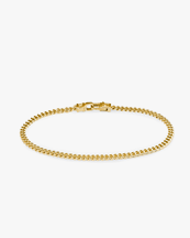 Tom Wood Curb Bracelet M Gold