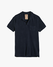 Oas Company Solid Terry Shirt Navy