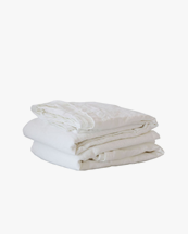 Tell Me More Sheet/Table Cloth Linen Bleached White