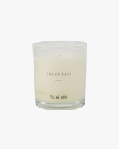 Tell Me More Scented Candle Clean Silver Rain