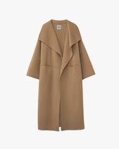 Toteme Signature Wool Cashmere Coat Camel