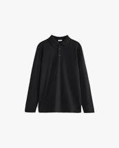 Filippa K Luke Lycra Polo Shirt Black