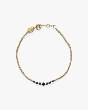Anni Lu Bead & Gem Bracelet Black