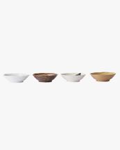 HK Living Kyoto Ceramics Japanese Shallow Bowl Multicolour