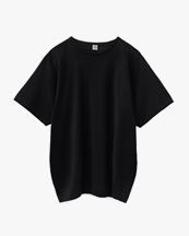 Toteme Oversized Cotton Tee Black