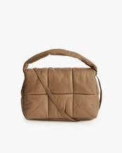 Stand Studio Wanda Leather Clutch Bag Sand