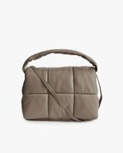 Stand Studio Wanda Leather Clutch Bag Sandstone Beige