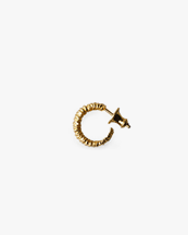Avidue Round Crystal Earring Small Gold