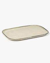 Serax Plate Rectangular Merci N°2 L Off White