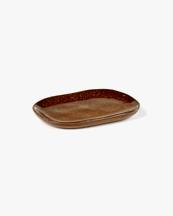 Serax Plate Rectangular Merci N°4 Ocre/Brown
