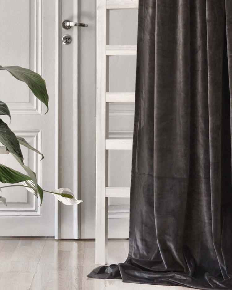 Gotain Curtain Velvet Dark Grey