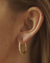 Nootka Jewelry Big Hoop Gold